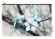 Teal Blossoms Carry-all Pouch