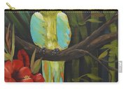 Teal Chartreuse Parrot Carry-all Pouch