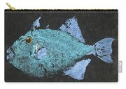 Gyotaku Triggerfish Carry-all Pouch by Captain Warren Sellers