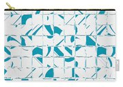 Teal Glyphs  Carry-all Pouch