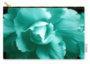 Teal Green Begonia Floral Carry-all Pouch by Jennie Marie Schell