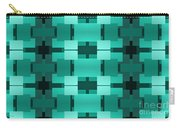 Teal On Teal 17 Carry-all Pouch