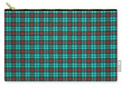 Teal Red And Black Plaid Fabric Background Carry-all Pouch