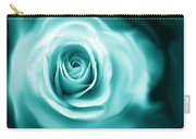 Teal Rose Flower Abstract Carry-all Pouch