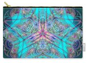 Teal Starfish Carry-all Pouch