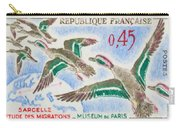 Teal Study Of Migration-museum Of Paris Carry-all Pouch