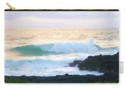Teal Wave On Golden Waters Carry-all Pouch
