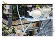 Teapots And Flowers Carry-all Pouch