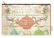 Teas And Coffees Sign Carry-all Pouch