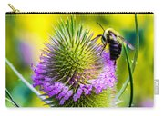 Teasel And Bee Carry-all Pouch