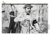Ted Degrazia With  Uncle  Gregorio Circa 1920's-2013 Carry-all Pouch