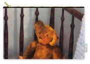 Teddy Bear In Crib Carry-all Pouch