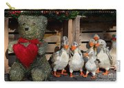 Teddy Bear With Flock Of Stuffed Ducks Carry-all Pouch