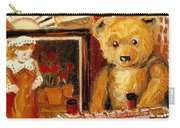 Teddy Bear With Tugboat Doll And Fan Childhood Memories Old Toys And Collectibles Nostalgic Scenes  Carry-all Pouch