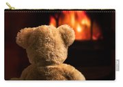 Teddy By The Fire Carry-all Pouch