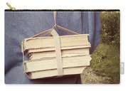 Teen Boy's Back With Books Carry-all Pouch by Edward Fielding