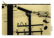 Telephone Pole And Sneakers 5 Carry-all Pouch by Scott Campbell