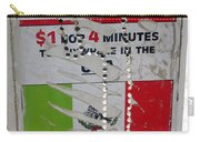 Telephone  Usa Mexico One Dollar Four Minutes Booth Us Mexico Flags Eloy Arizona 2005 Carry-all Pouch