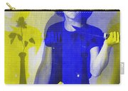 Teller / Early Shadows - Blue And Yellow  Carry-all Pouch