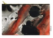 Tempest - Red And Black Painting Carry-all Pouch