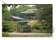 Temple By Lake And Forest Seoul South Korea Carry-all Pouch