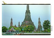 Temple Of The Dawn-wat Arun From Waterways Of Bangkok-thailand Carry-all Pouch