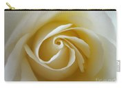 Tenderness White Rose Carry-all Pouch