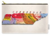 Tennessee Map Art - Painted Map Of Tennessee Carry-all Pouch