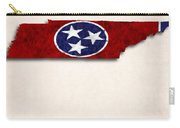 Tennessee Map Art With Flag Design Carry-all Pouch