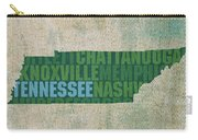 Tennessee Word Art State Map On Canvas Carry-all Pouch by Design Turnpike