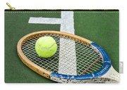 Tennis - Wooden Tennis Racquet Carry-all Pouch by Paul Ward