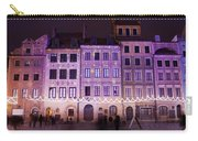 Terraced Historic Houses At Night In Warsaw Carry-all Pouch