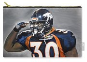 Terrell Davis  Carry-all Pouch by Don Medina