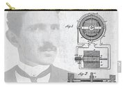 Tesla And The Electro Magnetic Motor Patent Carry-all Pouch