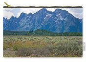 Teton Peaks And Flatland Near Jenny Lake In Grand Teton National Park-wyoming Carry-all Pouch