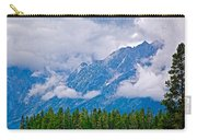 Teton Peaks Through Clouds In Grand Teton National Park-wyoming   Carry-all Pouch