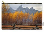 1m9354-teton Range In Autumn From Jackson Hole Ranch Country Carry-all Pouch