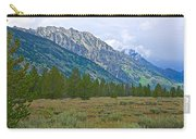 Tetons Above The Meadow In Grand Teton National Park-wyoming Carry-all Pouch
