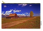 Tetons And Gambrel Barn Perspective Carry-all Pouch