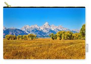 Tetons Autumn Panorama Carry-all Pouch