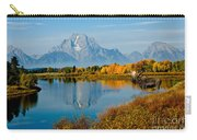 Tetons With Moose Carry-all Pouch
