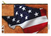 Texas American Flag Map Carry-all Pouch