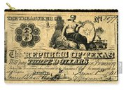Texas Banknote, 1841 Carry-all Pouch