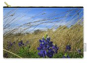 Texas Bluebonnet Center Of Attention Carry-all Pouch