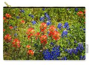 Texas Bluebonnets And Red Indian Paintbrush Carry-all Pouch