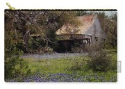 Texas Bluebonnets With Old Abandoned Shack Carry-all Pouch
