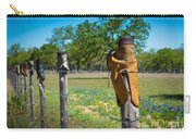 Texas Boot Fence Carry-all Pouch