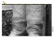 Texas Boots Portrait - Bw 03 Carry-all Pouch