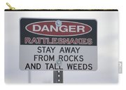 Texas Danger Rattle Snakes Signage Carry-all Pouch