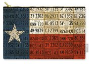 Texas Flag The Lone Star State License Plate Art Carry-all Pouch